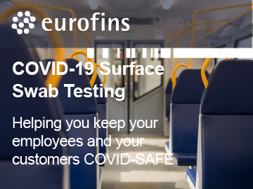 Eurofins SAFER@WORK™ - Helping you create a COVID-SAFE Environment